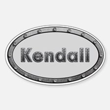 Kendall Metal Oval Decal