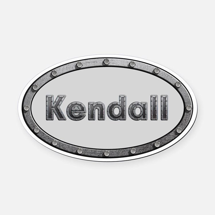 Kendall Metal Oval Oval Car Magnet
