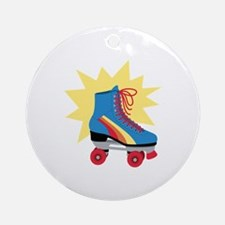 Retro Roller Skate Ornament (Round)