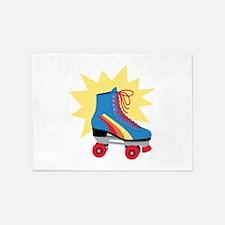 Retro Roller Skate 5'x7'Area Rug