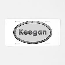 Keegan Metal Oval Aluminum License Plate