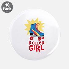 "Roller Girl 3.5"" Button (10 pack)"