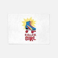 Roller Girl 5'x7'Area Rug