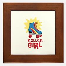 Roller Girl Framed Tile