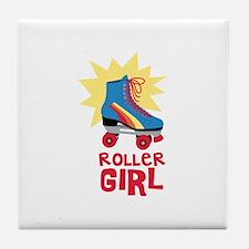 Roller Girl Tile Coaster