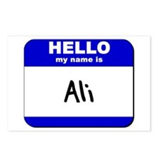 hello my name is ali  Postcards (Package of 8)