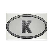 K Metal Oval Magnets
