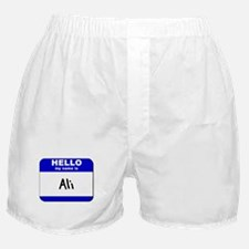 hello my name is ali  Boxer Shorts