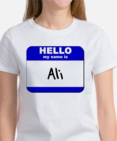 hello my name is ali Women's T-Shirt