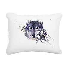 Snow Wolf Rectangular Canvas Pillow