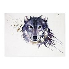 Snow Wolf 5'x7'Area Rug