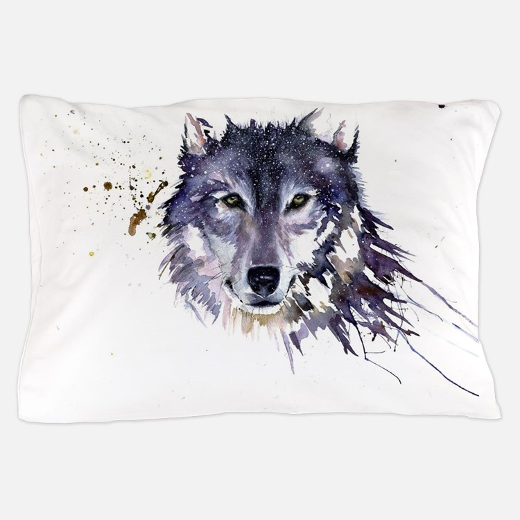Snow Wolf Pillow Case