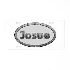 Josue Metal Oval Aluminum License Plate