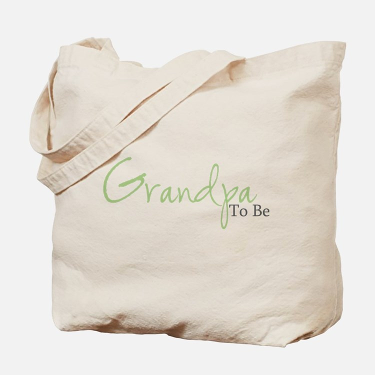 Grandpa To Be (Green Script) Tote Bag