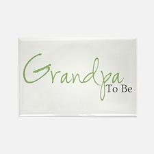 Grandpa To Be (Green Script) Rectangle Magnet (100