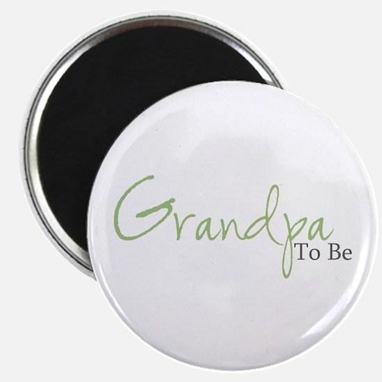 Grandpa To Be (Green Script) Magnet