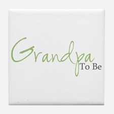 Grandpa To Be (Green Script) Tile Coaster