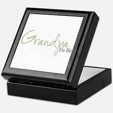 Grandpa To Be (Green Script) Keepsake Box