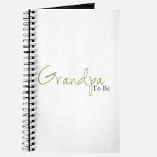 Grandpa To Be (Green Script) Journal