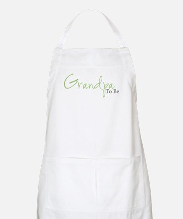 Grandpa To Be (Green Script) BBQ Apron