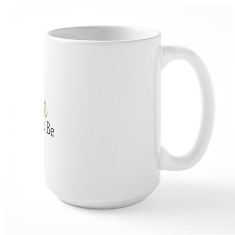 Grandpa To Be (Green Script) Large Mug