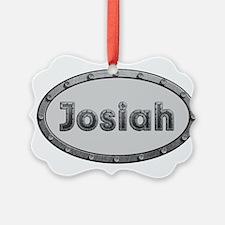 Josiah Metal Oval Ornament