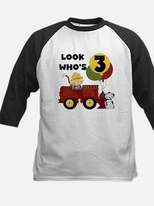 Little Fireman 3rd Birthday Baseball Jersey