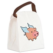 Pigs fly Canvas Lunch Bag