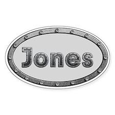 Jones Metal Oval Decal