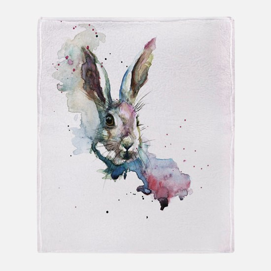 March Hare Throw Blanket