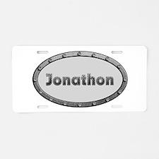 Jonathon Metal Oval Aluminum License Plate