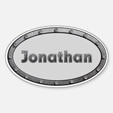 Jonathan Metal Oval Decal