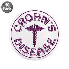 "CROHN'S DISEASE 3.5"" Button (10 pack)"