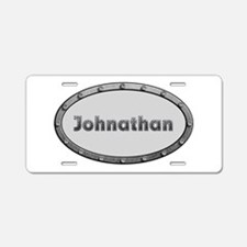 Johnathan Metal Oval Aluminum License Plate