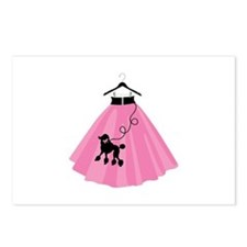 Poodle Skirt Postcards (Package of 8)