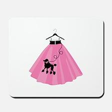 Poodle Skirt Mousepad