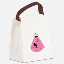 Poodle Skirt Canvas Lunch Bag