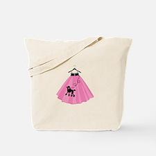 Poodle Skirt Tote Bag