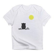 Gray Owl and Moon Infant T-Shirt