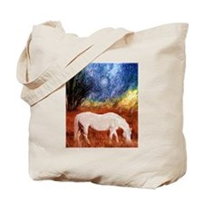 White Horse painting Tote Bag