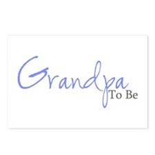 Grandpa To Be (Blue Script) Postcards (Package of