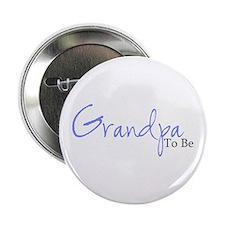 Grandpa To Be (Blue Script) Button