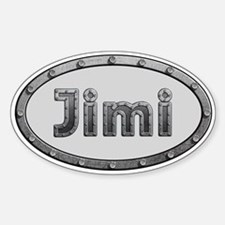 Jimi Metal Oval Decal