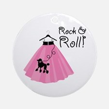 Rock and Roll Poodle Skirt Ornament (Round)