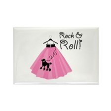 Rock and Roll Poodle Skirt Magnets