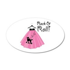 Rock and Roll Poodle Skirt Wall Decal