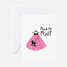 Rock and Roll Poodle Skirt Greeting Cards