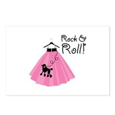 Rock and Roll Poodle Skirt Postcards (Package of 8
