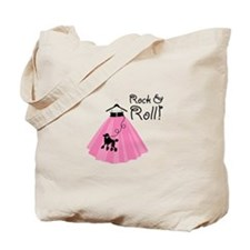 Rock and Roll Poodle Skirt Tote Bag