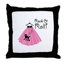 Rock and Roll Poodle Skirt Throw Pillow